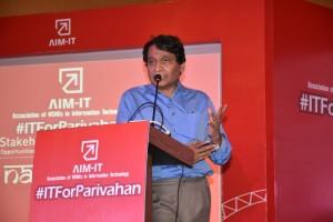 Shri Suresh Prabhu addresing audience at AIM-IT Launch event